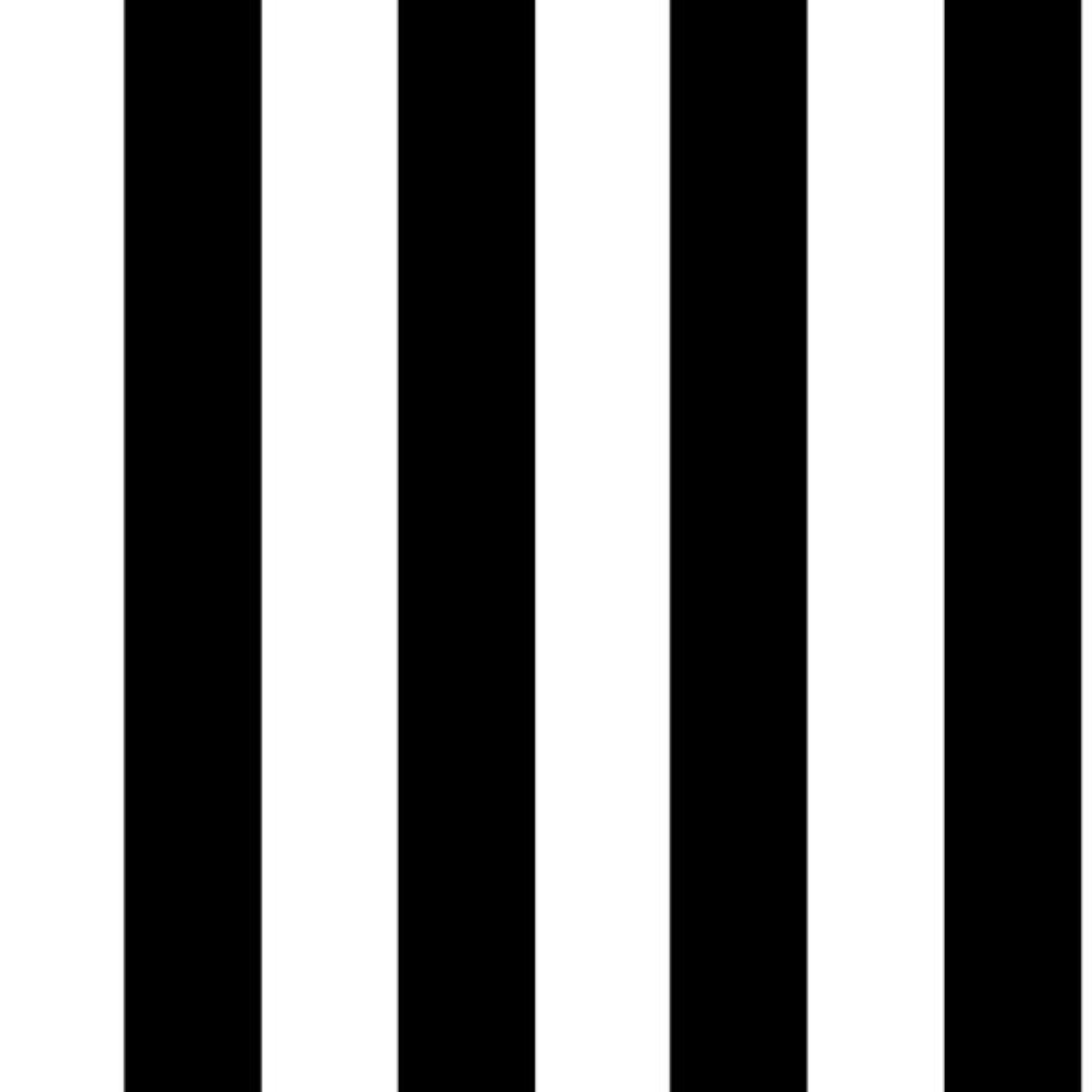 Monochrome Stripe Black/White Paper Strippable Wallpaper (Covers 56 sq. ft.)