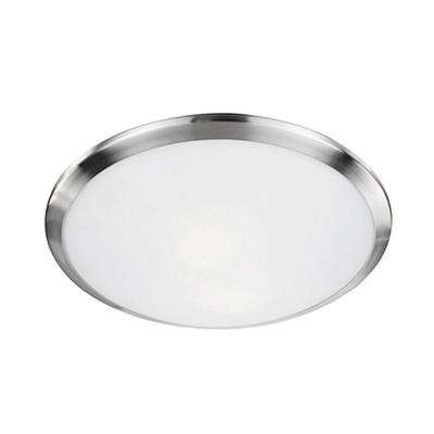 Troy 2-Light Brushed Nickel Flush Mount