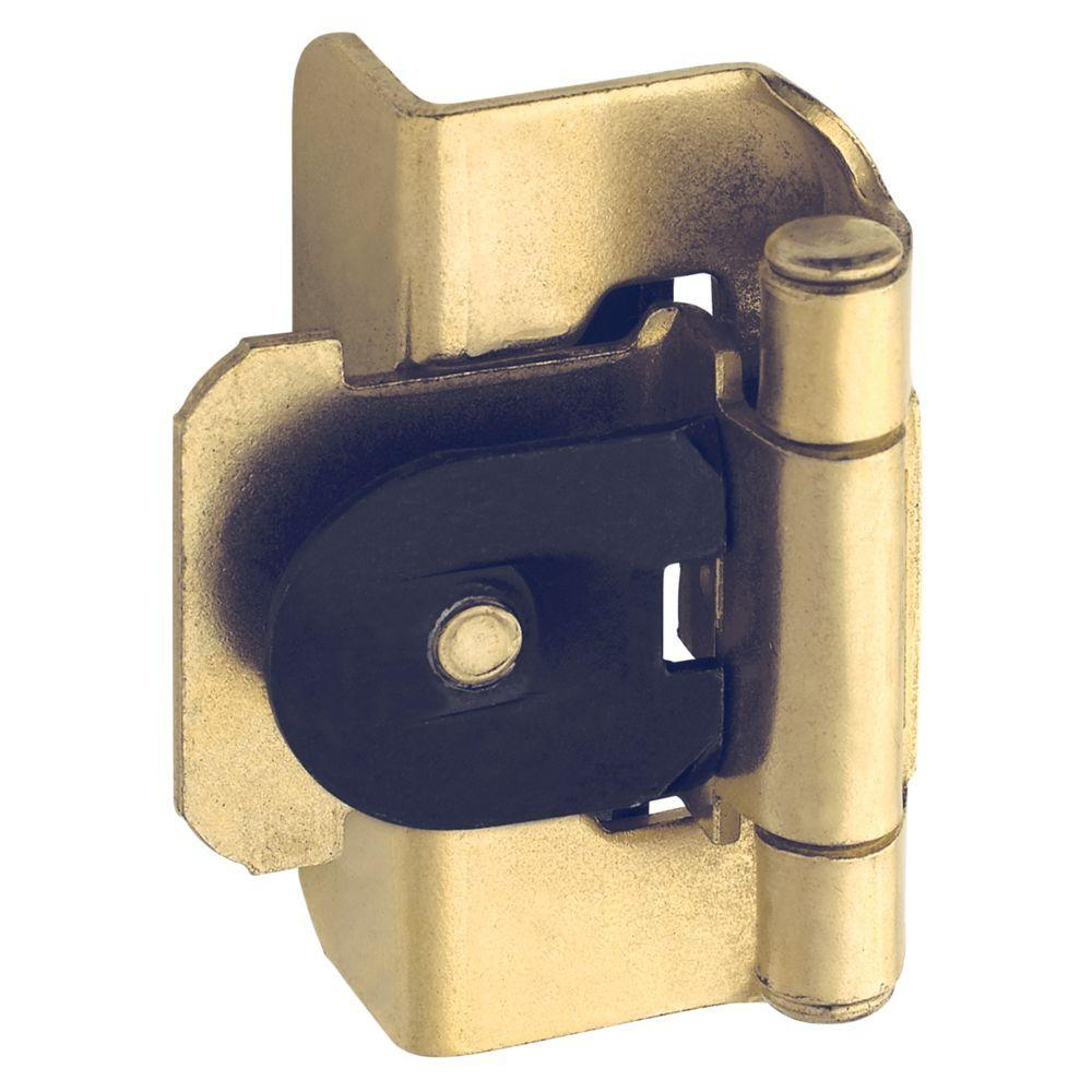 1/2 in. Polished Brass Double-Demountable Inset Hinge