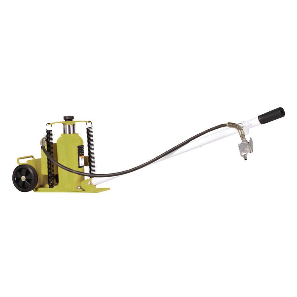 20-Ton Air/Manual Hydraulic Bottle Jack Cart