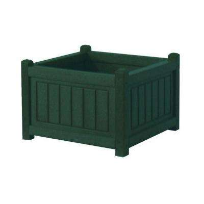 Nantucket 17 in. x 17 in. Green Recycled Plastic Commercial Grade Planter Box