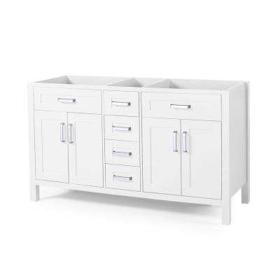 Greysen 60 in. W x 22 in. D Bath Vanity Cabinet Only in White