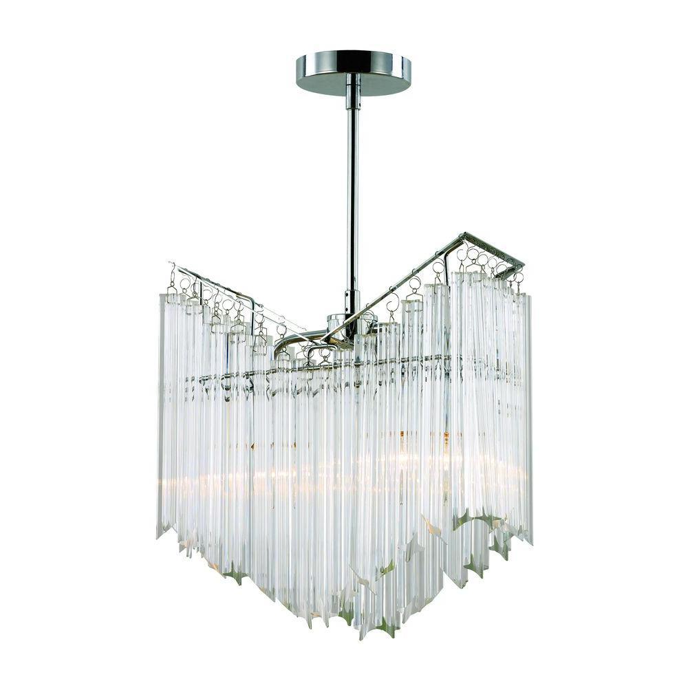 Bel Air Lighting 2-Light Crystal Icicles Hanging Chandelier