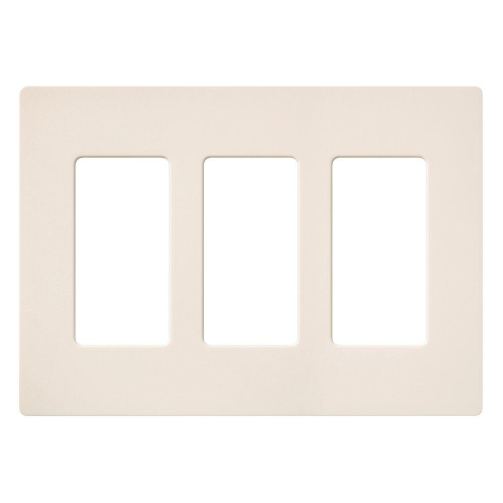 Claro 3 Gang Decorator Wallplate, Eggshell