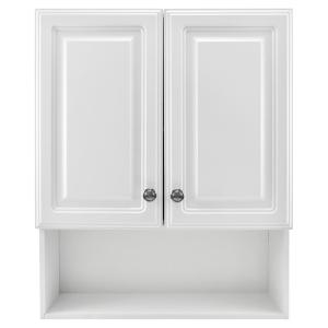 23-1/8 in. W x 27-7/8 in. H Framed Surface-Mount Bathroom Medicine Cabinet in White