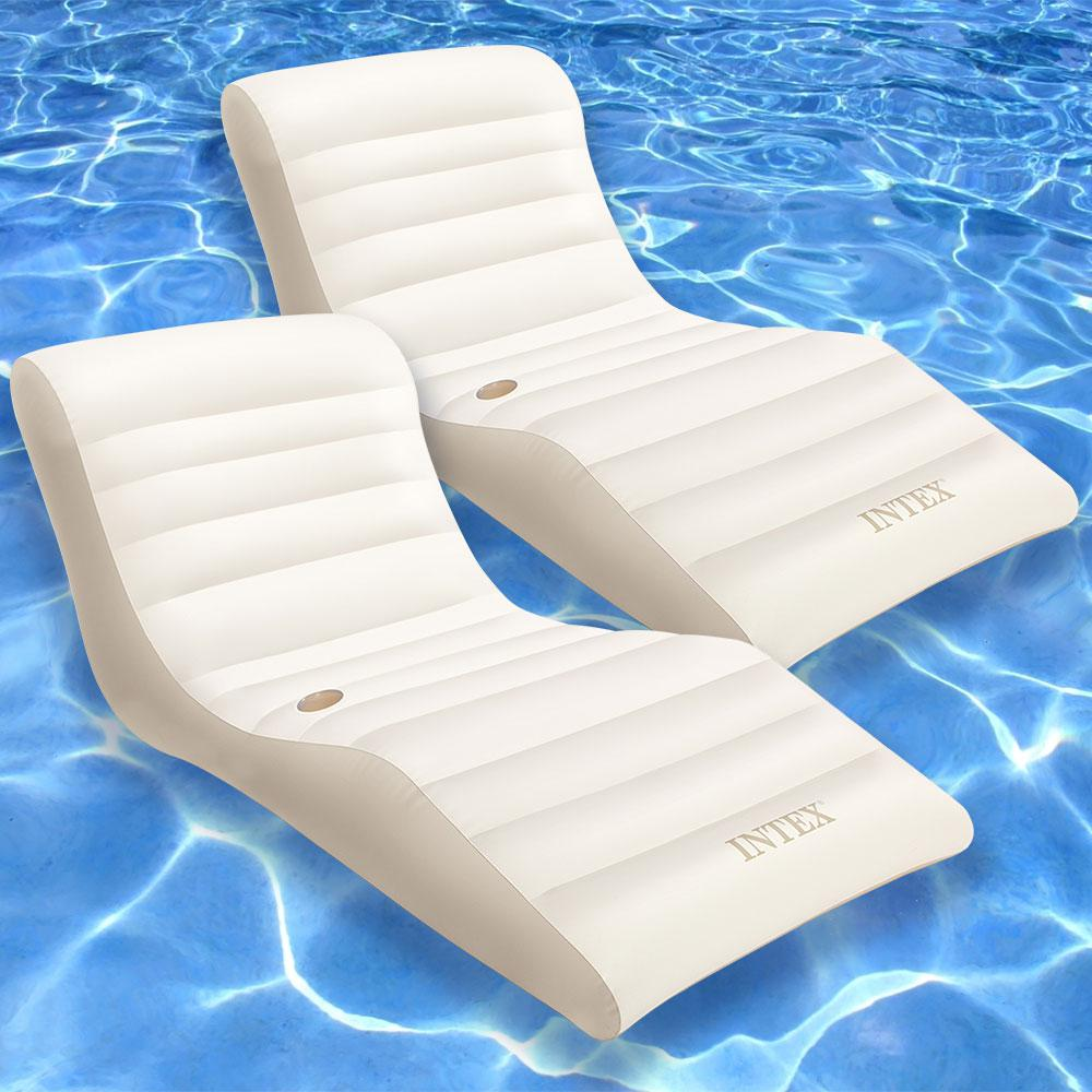 Intex Wave Lounge Pool Float 2 Pack 56861ep 02 The