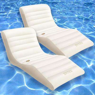 Wave Lounge Pool Float (2-Pack)