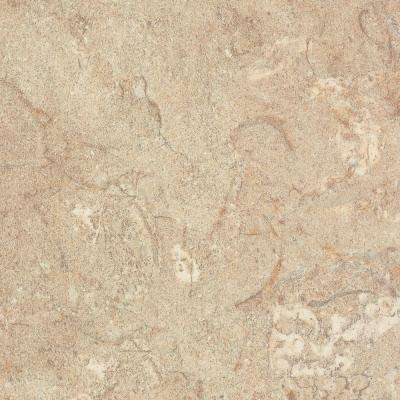 5 in. x 7 in. Laminate Countertop Sample in Travertine with Premiumfx Etchings Finish