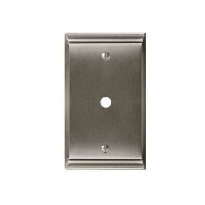 Candler 1-Cable Wall Plate, Satin Nickel