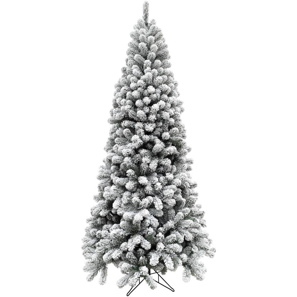 flocked alaskan pine christmas tree - Black And Silver Christmas Tree