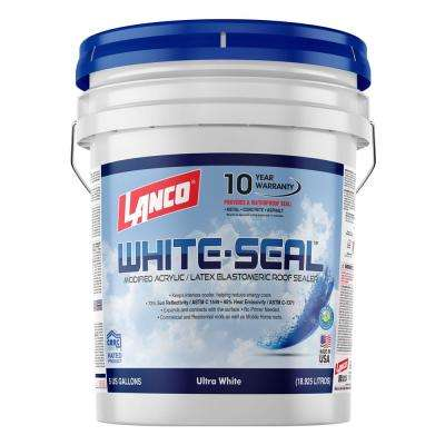 5 Gal. White-Seal 100% Acrylic Elastomeric Reflective Roof Coating with High Dirt Pick-Up Resistance