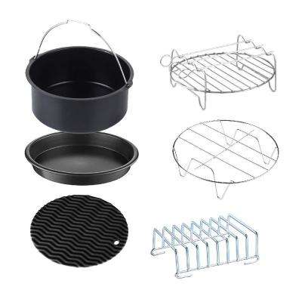 6-Piece Universal Air Fryer Accessory Set