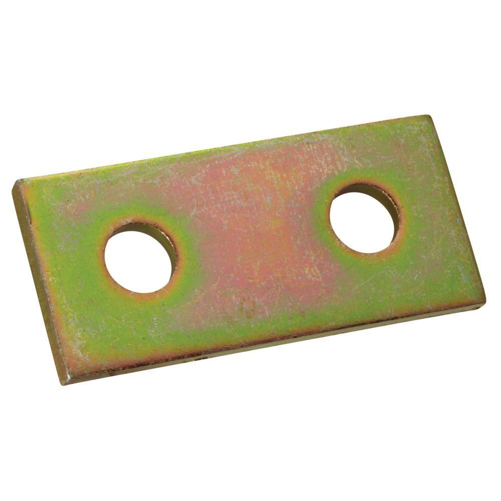 Superstrut 2-Hole Flat Straight Strut Bracket - Gold Galvanized