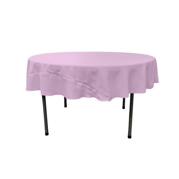 Lilac 72 in. Round Polyester Poplin Tablecloth