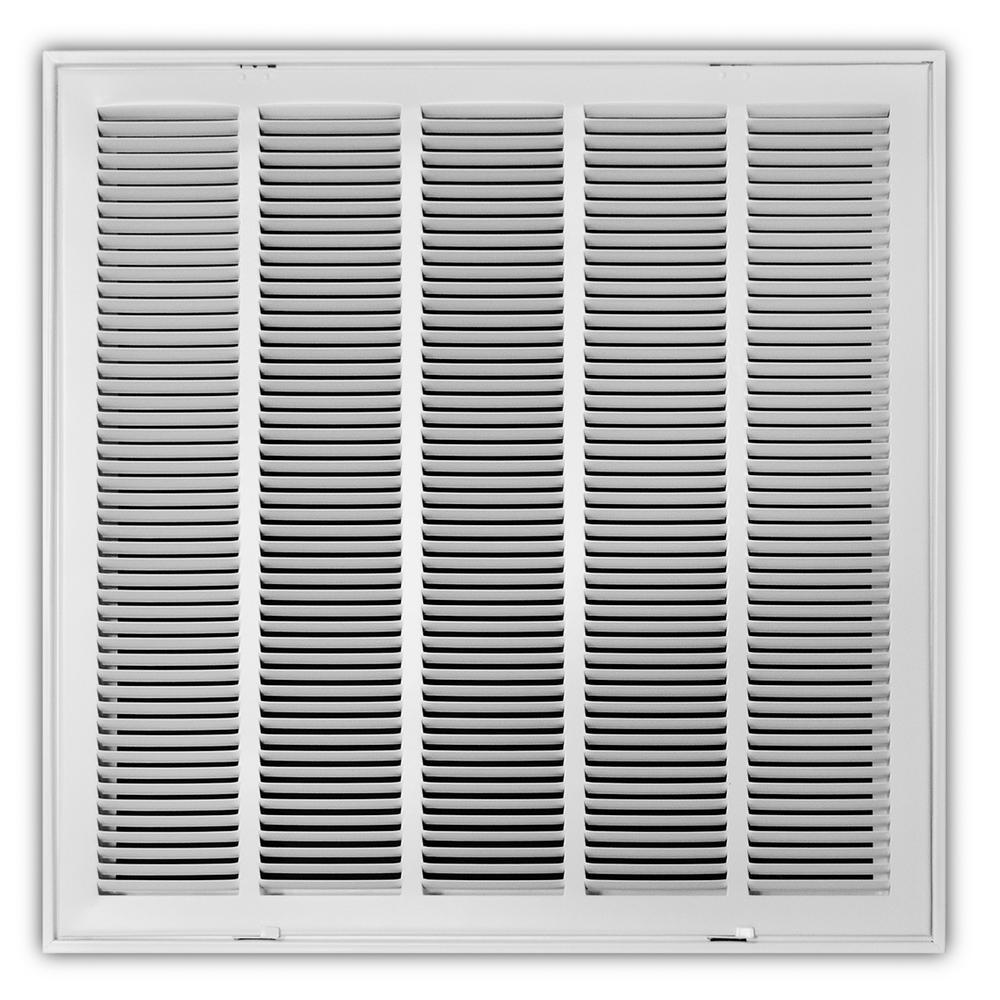 Everbilt 12 in  x 24 in  White Return Air Filter Grille-E190RF 12X24