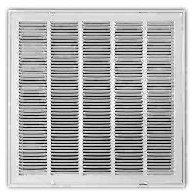 24 in. x 24 in. White Return Air Filter Grille