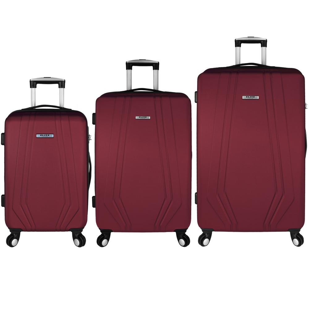Elite Luggage Paris 3-Piece Red Hardside Spinner Luggage Set was $349.99 now $174.99 (50.0% off)