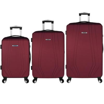 Paris 3-Piece Red Hardside Spinner Luggage Set