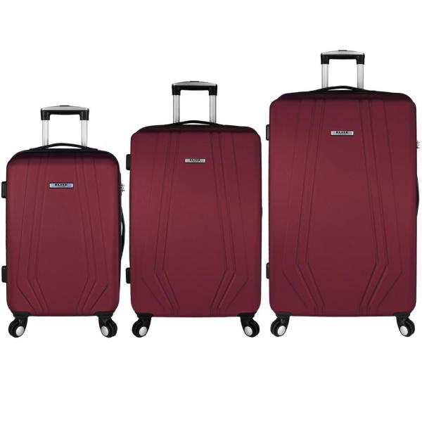 Elite Luggage Paris 3-Piece Red Hardside Spinner Luggage Set EL09076R