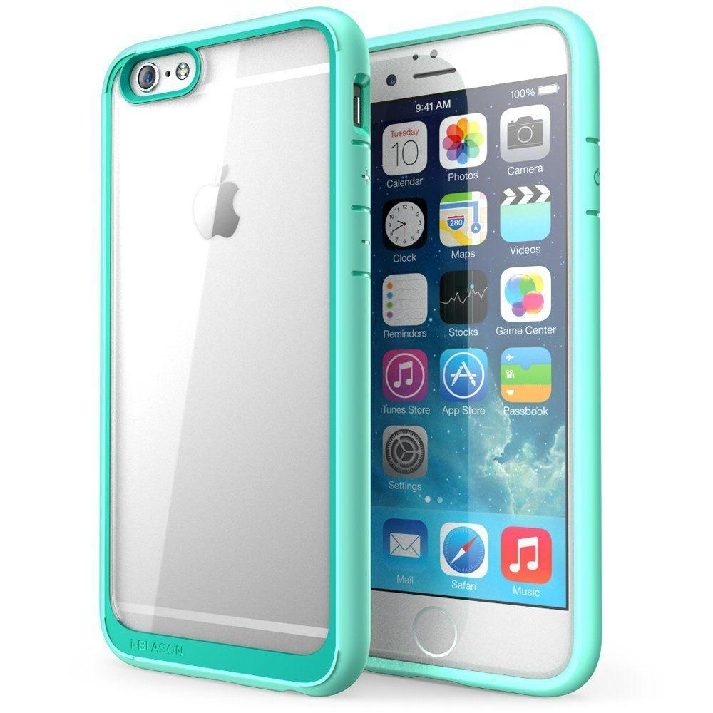 i blason halo series 4 7 in case for apple iphone 6 6s, clear greencase for apple iphone 6 6s, clear green