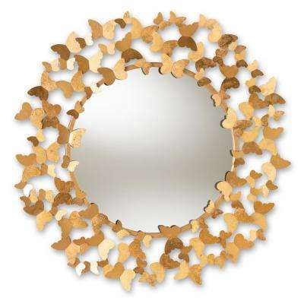 Soleil Antique Gold Wall Mirror