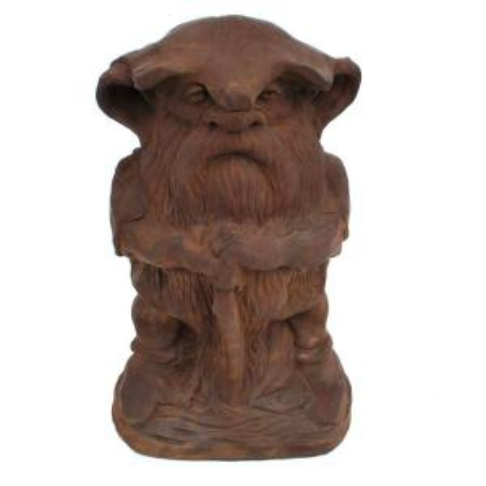 Cast Stone Large Rainman Garden Statue Dark Walnut by