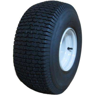 20 x 8.00-8 2Ply SU12 Mower Tire on 8 in. x 7 in. Greyish White Solid Wheel with Zerk, Metal Bushings of 3/4 I.D.
