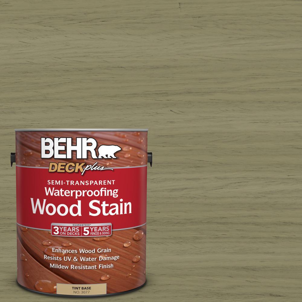 BEHR DECKplus 1 gal. #ST-151 Sage Semi-Transparent Waterproofing Wood Stain