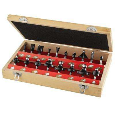 Carbide Multi-Purpose Router Bit Set (18-Piece)