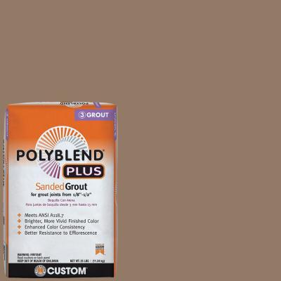 Polyblend Plus #105 Earth 25 lb. Sanded Grout