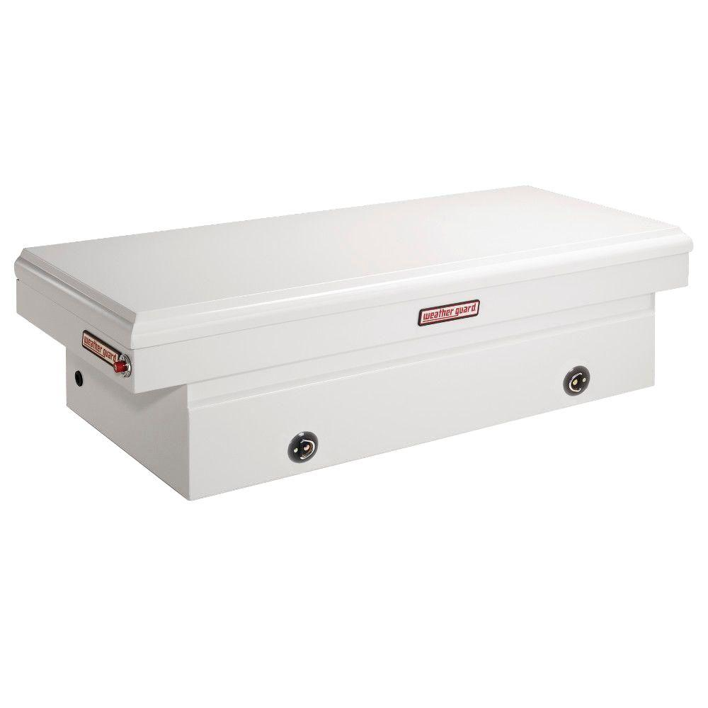 Weather Guard 71.5 White Steel Full Size Crossbed Truck Tool Box