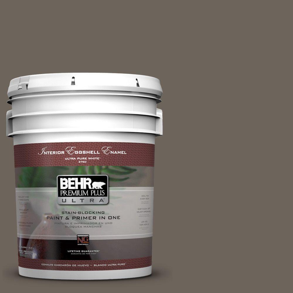 BEHR Premium Plus Ultra 5-gal. #N360-6 Patio Stone Eggshell Enamel Interior Paint