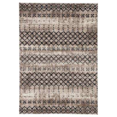 Dalton Tan 8 ft. 10 in. x 12 ft. Trellis Rectangle Rug
