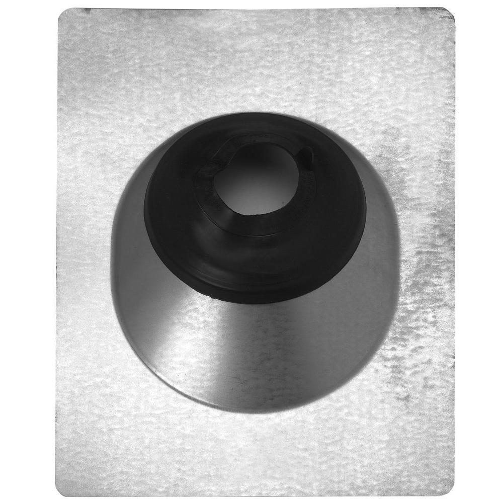 Construction Metals 1-1/4 in. - 3 in. Adjustable Pipe Flashing with Galvanized Steel Base and Rubber Collar