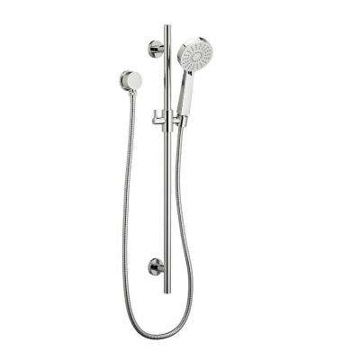 Round Water-Saving 3-Spray Wall Bar Shower Kit in Polished Chrome
