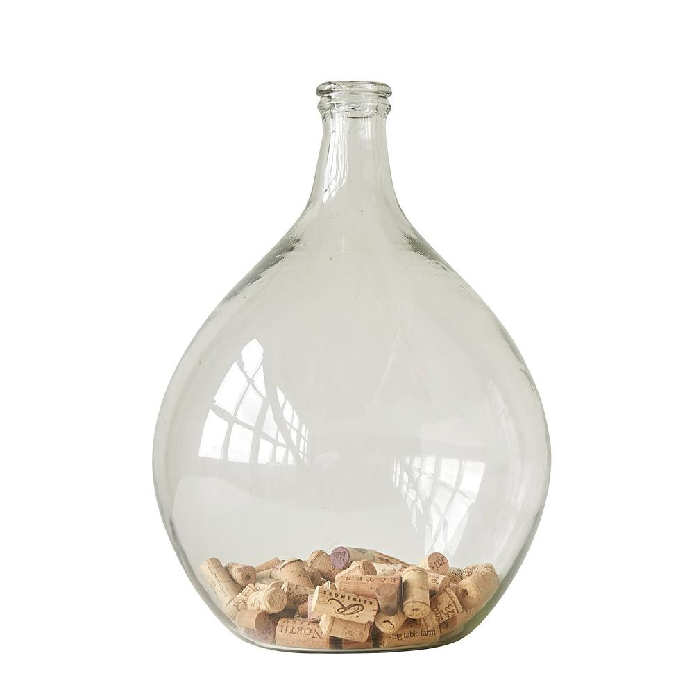 3r studios 185 in h clear round glass bottle da7423hd the home h clear round glass bottle reviewsmspy