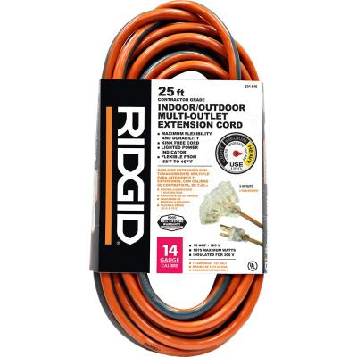 25 ft. 14/3 Tri-Tap Outdoor Extension Cord