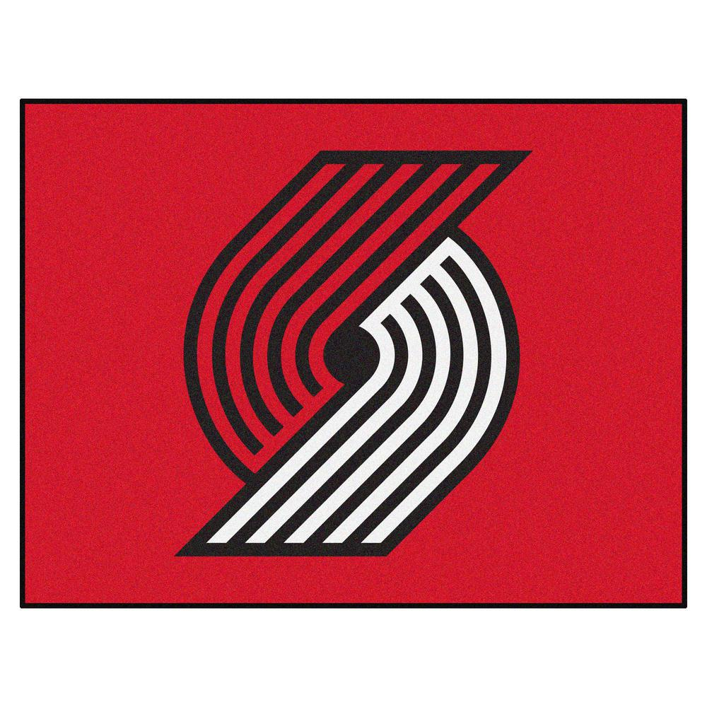 815d80107ee3 NBA - Portland Trail Blazers Red 2 ft. 9 in. x 3 ft. 6 in. Indoor All Star  Mat Area Rug
