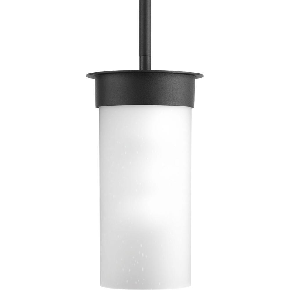 Progress Lighting Hawthorne 1-Light Outdoor 5 in. Black Small Hanging Lantern