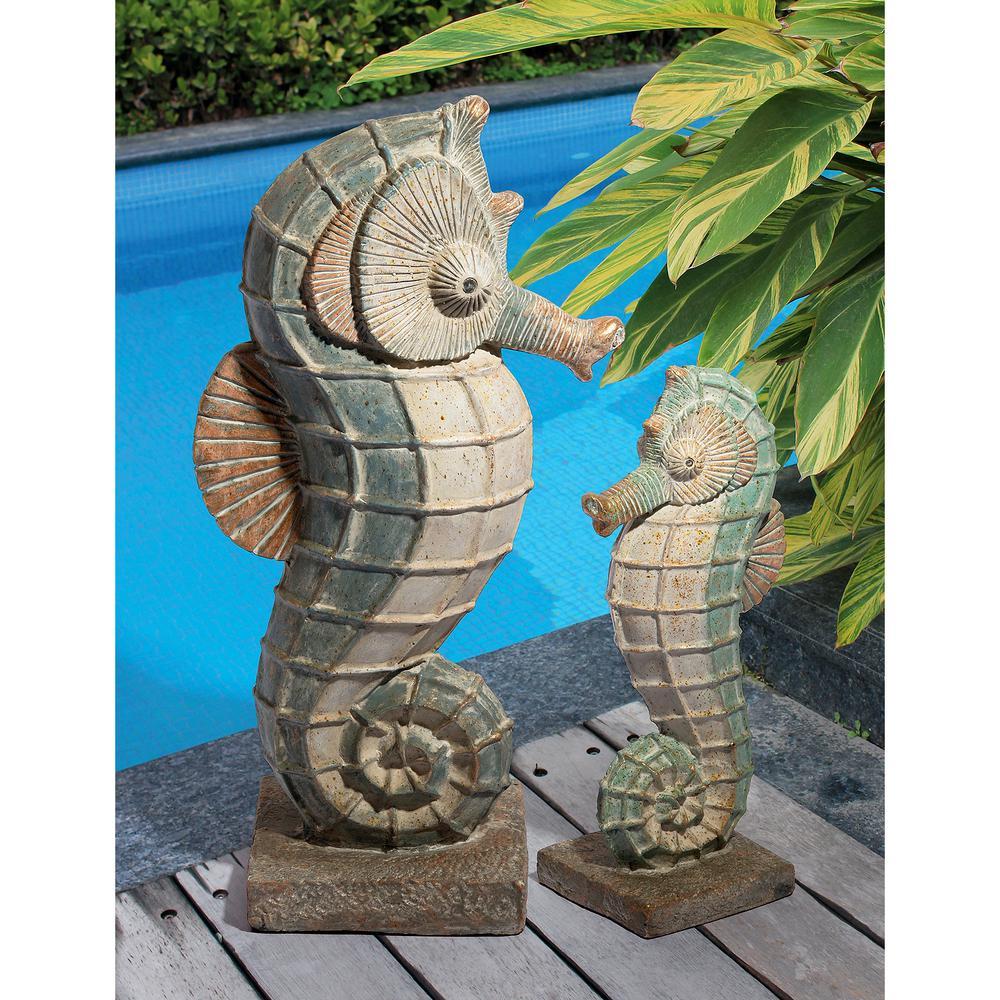 Design Toscano Sea Biscuit Seahorse, Seahorse Garden Statue