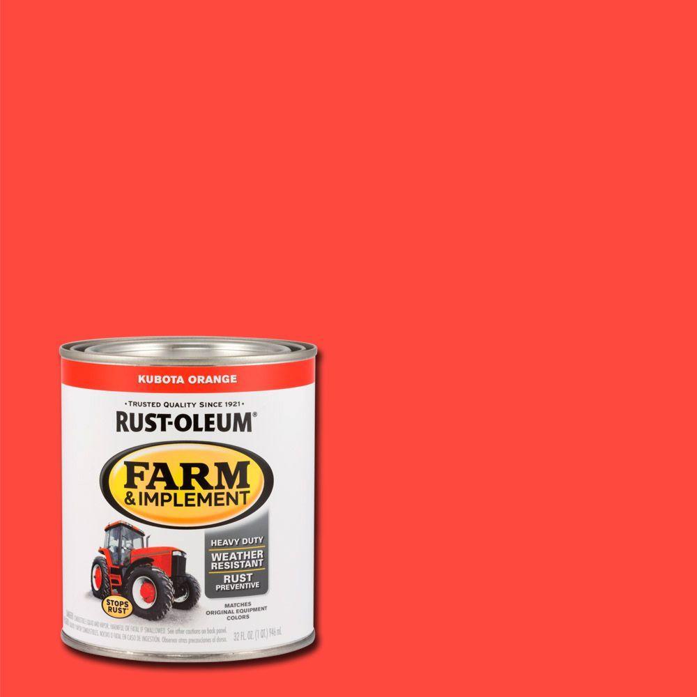 Rust Oleum 1 Qt Farm And Implement Kubota Orange Paint