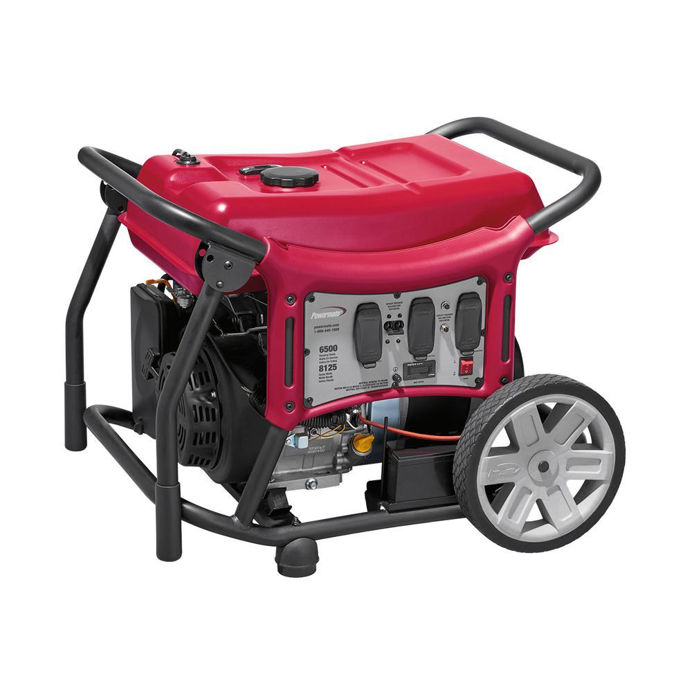 Powermate CX Series 6,500-Watt Gasoline Powered Electric-Start Portable Generator by Powermate
