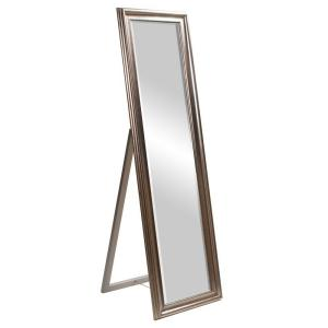 Large Silver Wood Beveled Glass Art Deco Classic Mid-Century Modern Mirror (60 in. H X 20 in. W)