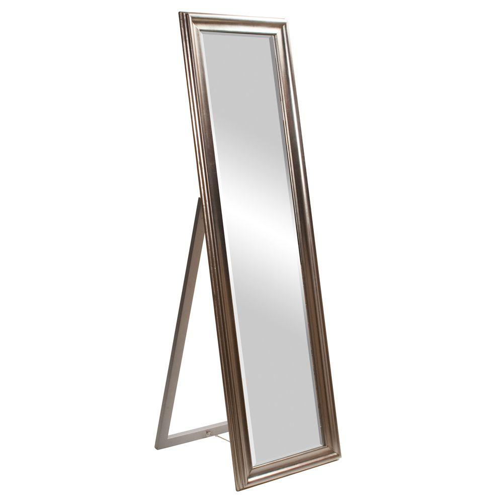 silver standing wood framed mirror - Wood Framed Mirrors