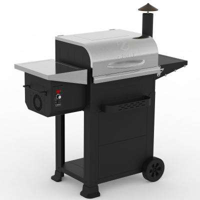 Z GRILLS 6002E 573 sq. inch Wood Pellet Grill and Smoker 6-in-1 BBQ Auto Temperature Control in Stainless Steel