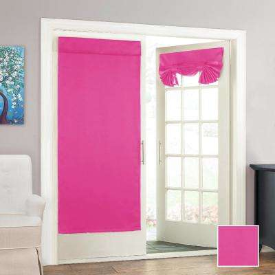 Tricia 68 in. L Polyester Rod Pocket Panel in Pink (1-Pack)