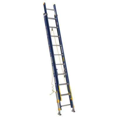 20 ft. Fiberglass D-Rung Equalizer Extension Ladder with 300 lb. Load Capacity Type IA Duty Rating