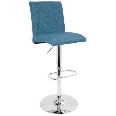 Tintori 32.25 in. Adjustable Blue Barstool