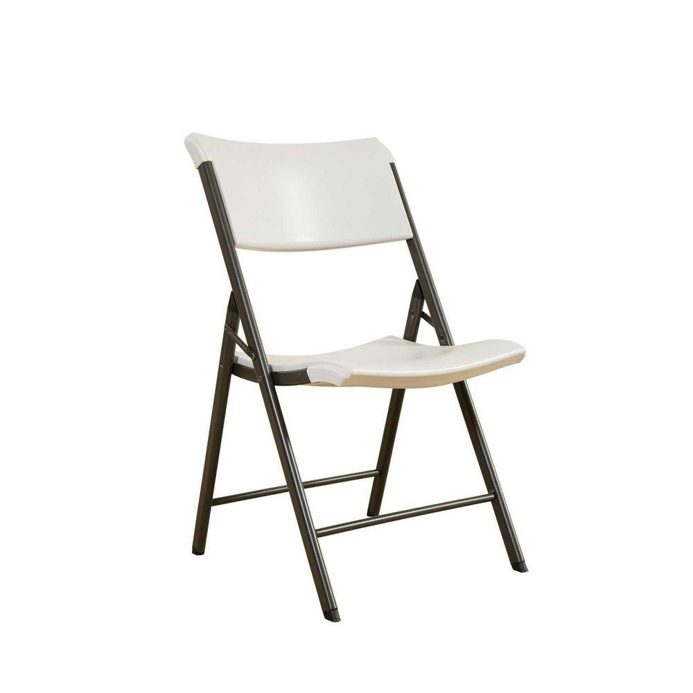 Lifetime Commercial Contemporary Folding Chair in Almond (4-Pack)