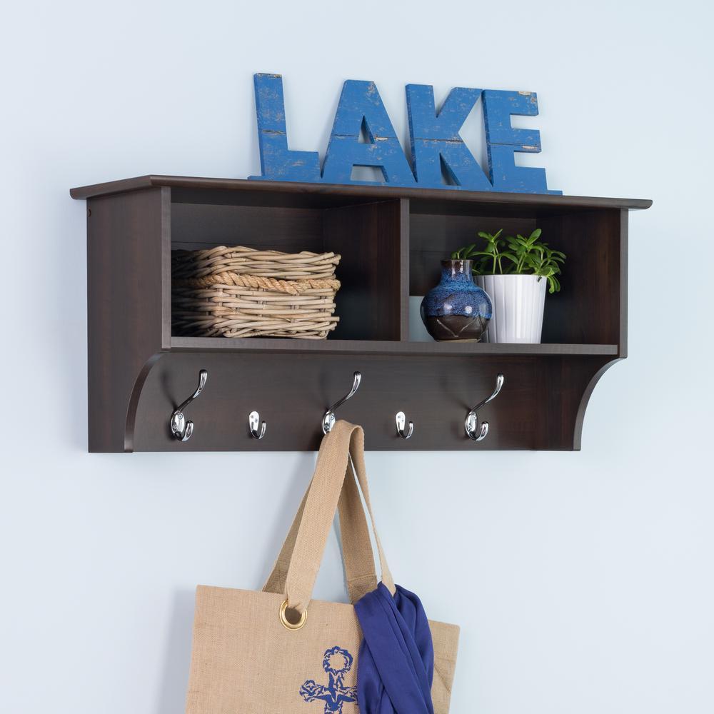 Floating shelves shelves shelf brackets storage 36 in w hanging entryway shelf amipublicfo Images